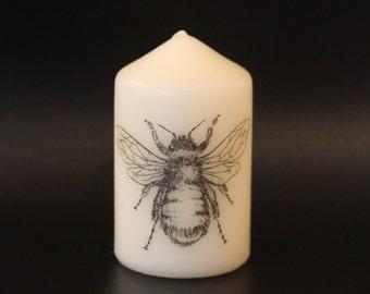 Bumble Bee - Pillar Candle - Anatomical Decor