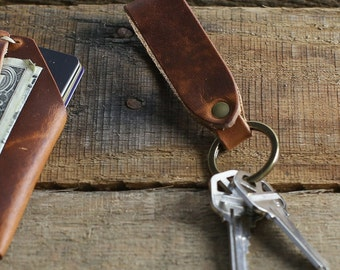 Proud To Be American leather key fob or keychain Hair