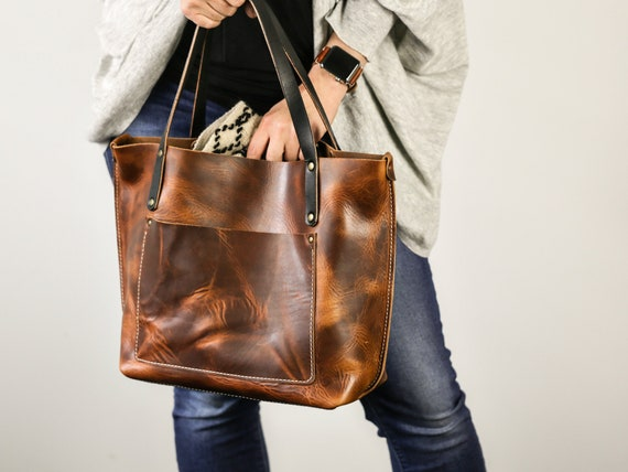 Leather Tote Bag for Women Large Leather Tote Personalized  77672fda13