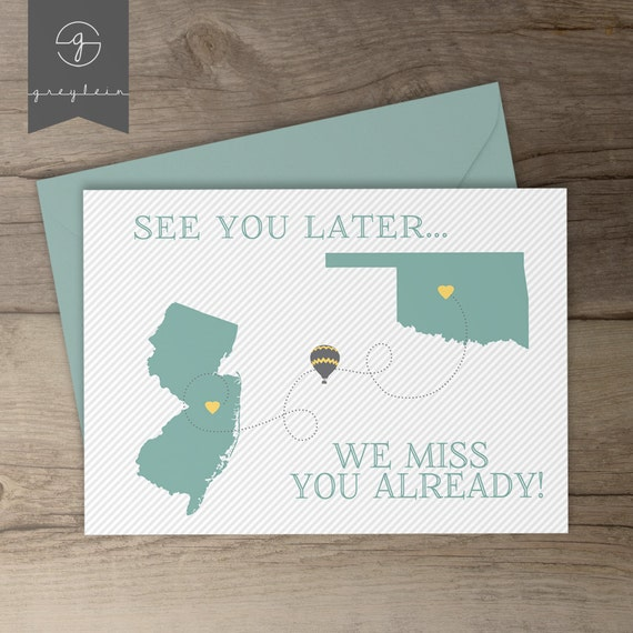 moving away gift card best friend moving away present etsy