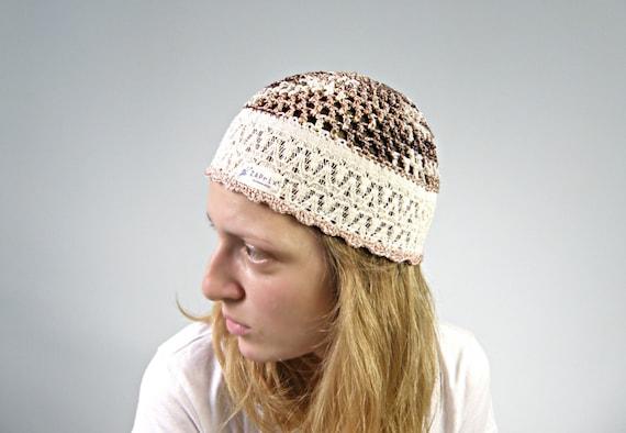 1cea3ea3961 Items similar to Iris - Summer Beanie HAT COTTON Hippie hat women summer  hats beige Gypsy hats by Zaprix on Etsy