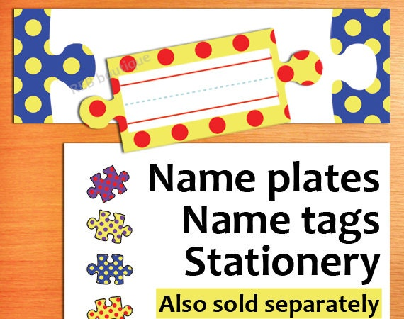 Printable Classroom Name Tags Printable Name Tags Name Etsy