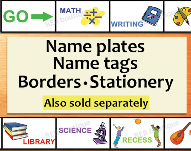 Printable Classroom Name Tags Printable Chevron Name Tags Name Plates Borders Stationery Board Game Subjects Elementary Classroom