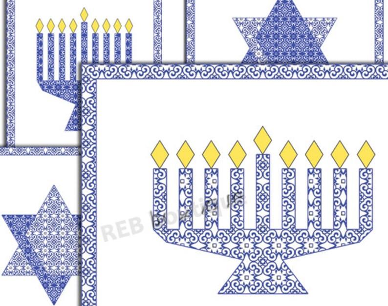 image regarding Printable Hanukkah Cards identified as PRINTABLE Hanukkah Playing cards - Hanukah playing cards, Chanukah playing cards, menorah, Jewish star, Star of David, reward playing cards, blue, white, electronic, PDF