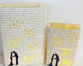 Luminary Set, Book Wedding, Bride & Groom, First Anniversary Paper Gifts, Library Wedding, Book Decor, Love, Wedding Lanterns