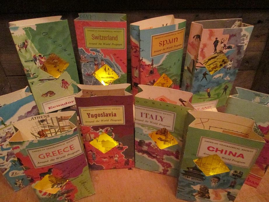 Travel Centerpieces 5 Travel Themed Travel Book Luminaries Etsy