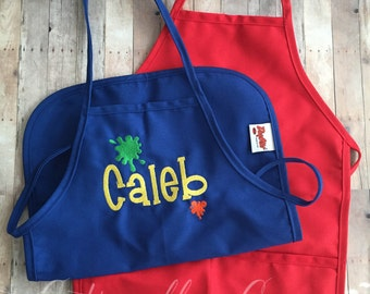 Personalized kids Art Smock - School Art Apron