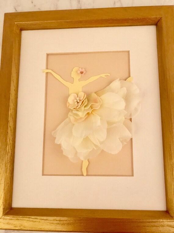 707cdf4563f Ballerina wall art/ nursery wall art/ Pink and Gold wall | Etsy