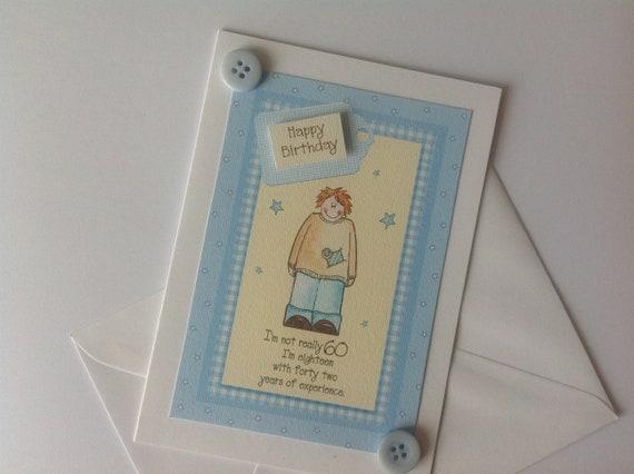 60th Birthday Card Handmade