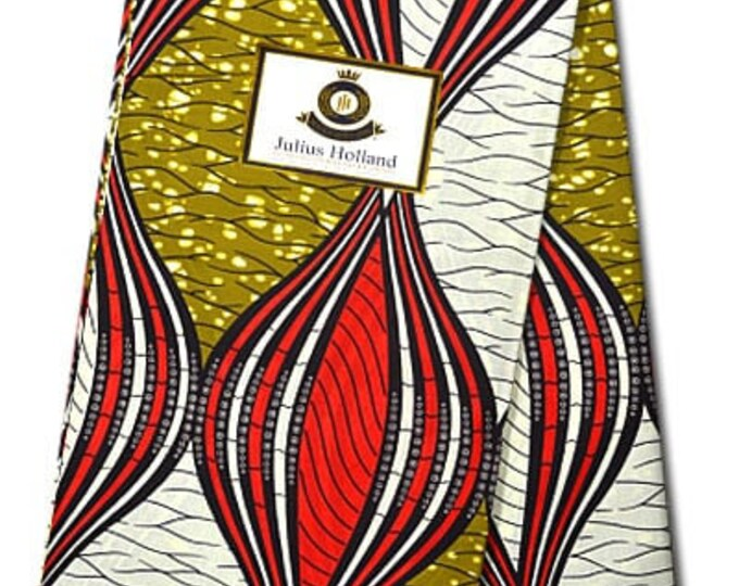 6 YARDS Julius Holland Block Wax Print, Fabrics For  Craft /Sewing and Dress Making Kitenge/Pagnes/Ankara /Chitenge African Cotton Fabrics