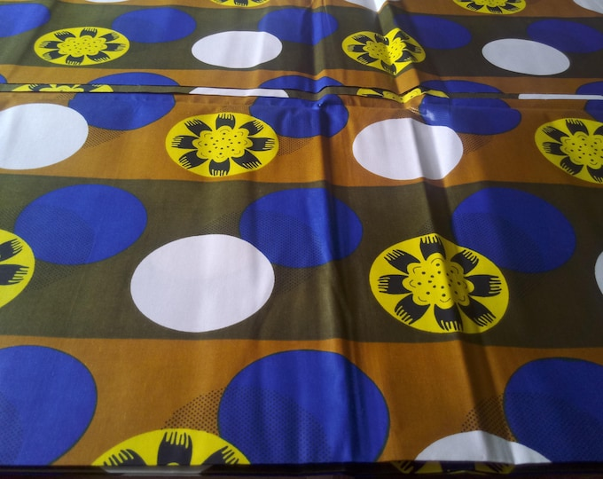 1 YARD African Print  Fabrics For Craft Making Dresses Shirts Ties /Sewing Cotton Fabric/Kitenge Pagnes Chitenge/ Suitable For Men and Women