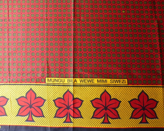 African Kanga Khanga Sarong/Fabrics For Dresses & Craft making/Cotton Fabrics/Traditional African wear/ Kanga Nzito