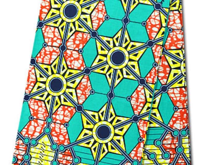 6 YARDS African Fabrics Super Wax Print Fabrics For Dresses& Craft Making /African Ankara Print Craft Fabric Bold Colour