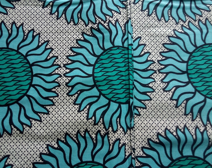 1 YARD Mitex Holland Print Cotton Fabrics For Craft Making Dresses Skirts Shirts Also Know as African Fabrics Kitenge Tissues Africain Pagne