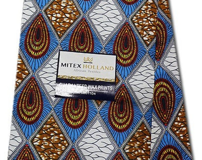 6 YARDS African Fabrics Mitex Holland Dutch Block Wax Print, Fabrics For  Craft /Sewing and Dress Making Kitenge/Pagnes/Ankara /Chitenge NEW