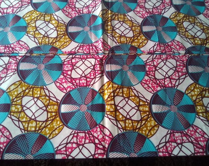 1 YARD African Fabrics Print For Craft Making Dresses Shirts Ties /Sewing Cotton Fabric/Kitenge Pagnes Chitenge/ Suitable For Men and Women