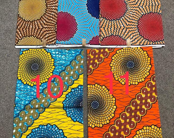 6 YARDS Julius Holland Block Wax Print Fabrics For Craft Making /Sewing and Dress Making Kitenge/Pagnes/Ankara /Chitenge/Kitenge  New