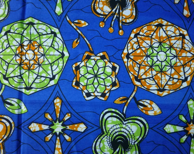 African Cotton Fabric For Dressmaking and Craft Making/Ankara Print Sold By The Yard