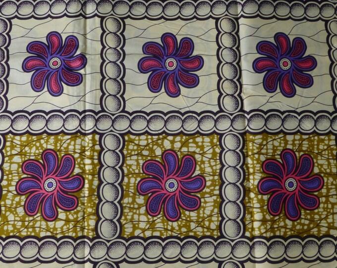 African Fabrics High Quality Julius Hollandais Wax Block Print Sold By Yard 151156312778