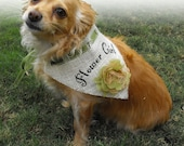 Burlap Wedding Dog Bandana for Pet Flower Girl