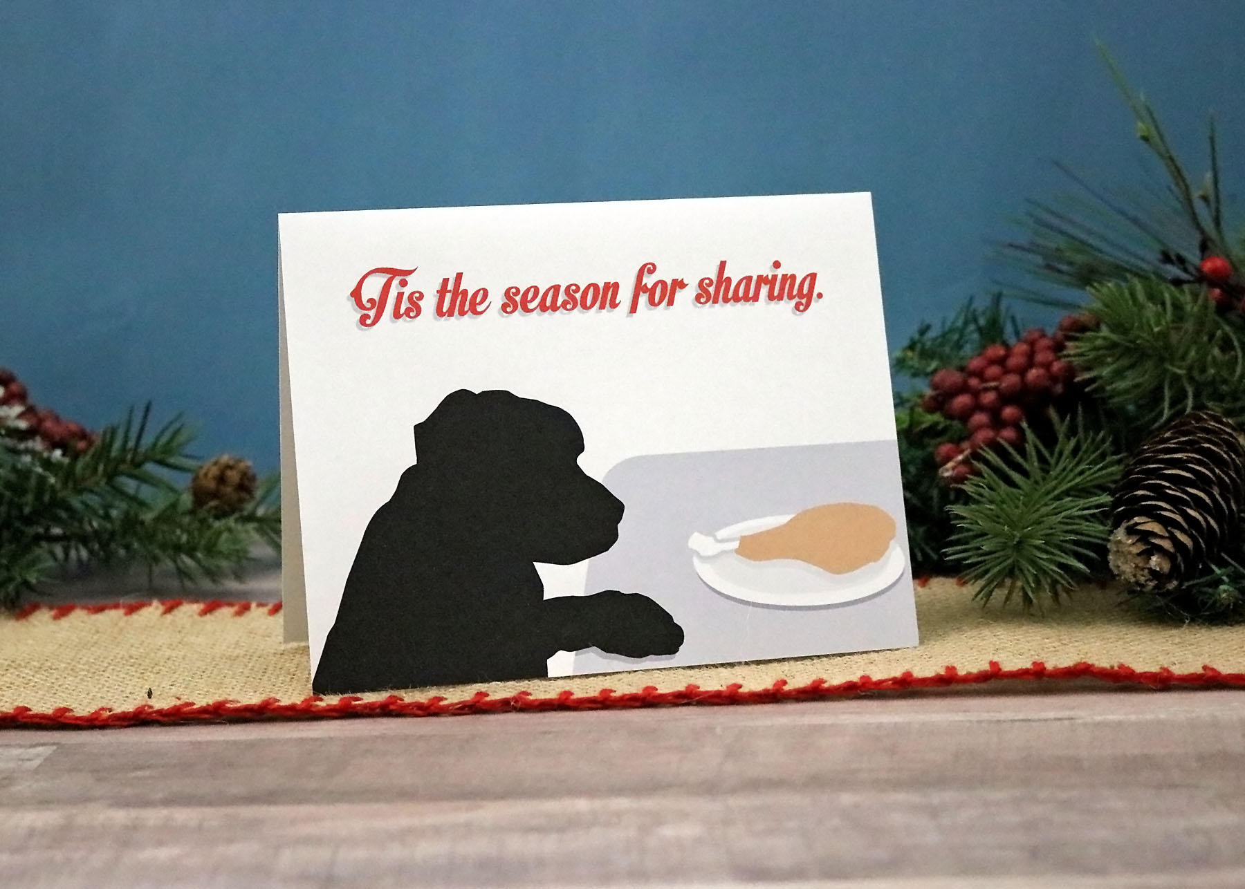 Dog Holiday Cards Funny Christmas Cards Pet Holiday Card | Etsy