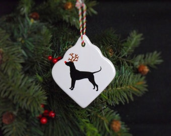 Dog Christmas Tree Ornament - Ceramic Holiday Ornaments