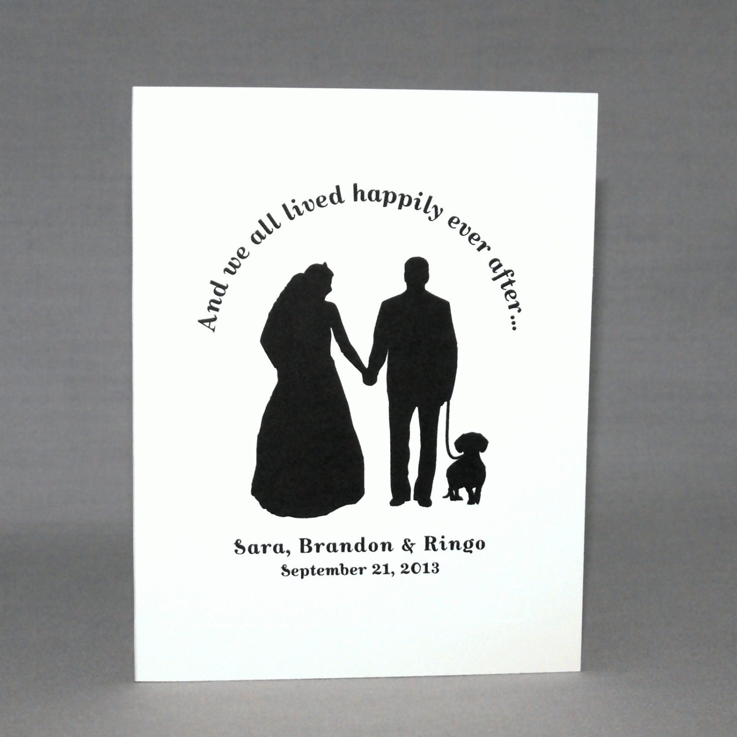 50 Personalized Wedding Thank You Cards with Dog Terrier