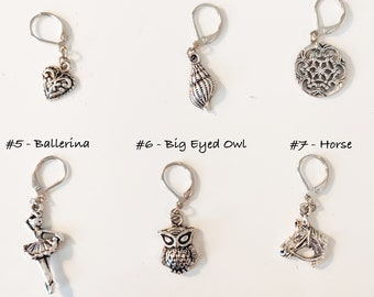 Special Offer - Multiple Pairs of Dainty Silver Charm Earrings