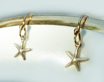 18K Gold filled Dainty Starfish Earrings