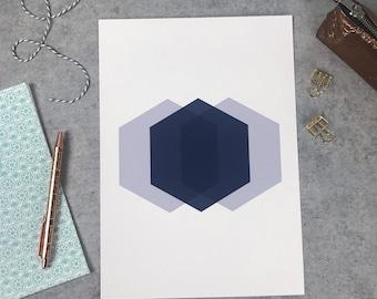 Diamond Abstract Geometric Print Mint Green Geometric Poster