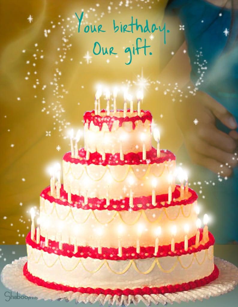 Beautiful Birthday Cake Card