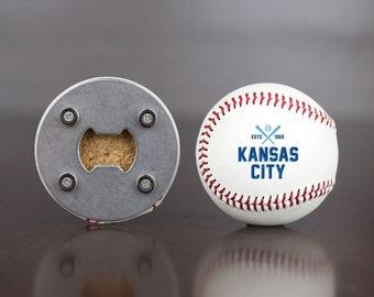 Royals | Bottle Opener made from a Real Baseball | Royals Baseball | Kansas City Royals