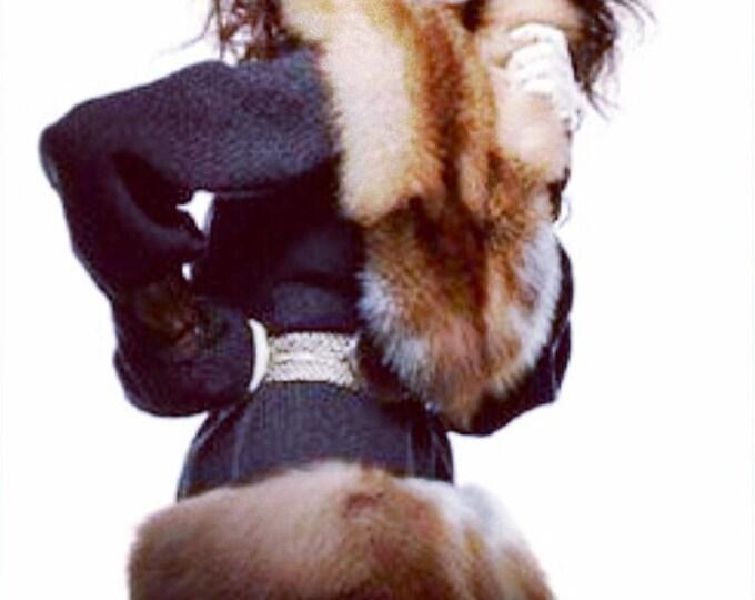 Featured listing image: cozy #irinashabayeva #knits #irinashabayevaknits  are back!!!!!!#LuxebyIrina brand machine knitted sweater coat with#faux #fur