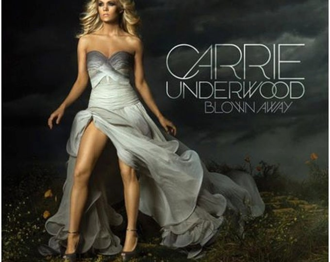 Featured listing image: Carrie Underwood new album cover gray ombre gown by Irina Shabayeva