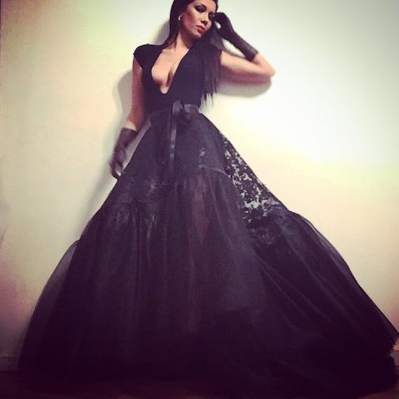 Irina Shabayeva Black lace ball skirt. Comes in custom colors ..