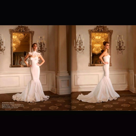 Irina Shabayeva Couture taffeta fitted gown.