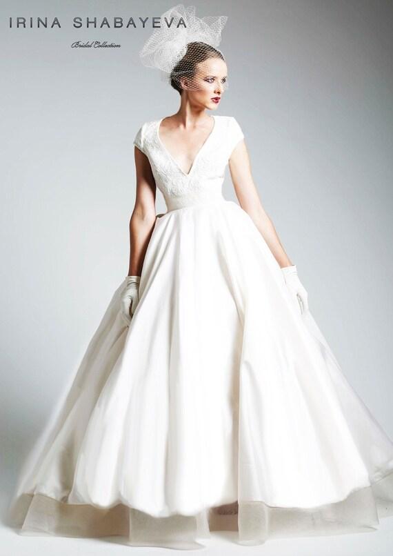 Irina Shabayeva Cap Sleeve Couture Ball Gown