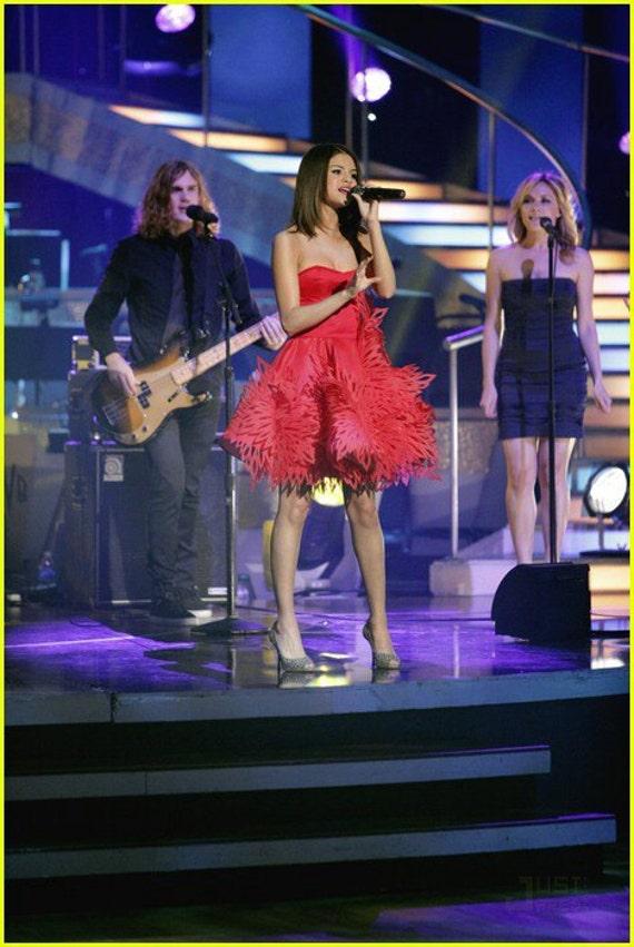 Irina Shabayeva Red Fire Work Bustier Dress worn by Selena Gomez and Kendal Jenner.