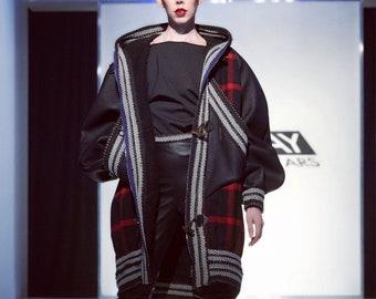 Irina Shabayeva Signature overize style coat with large hood.