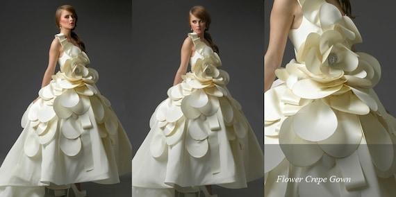 Irina Shabayeva Bridal-Magnolia flower Bridal Gown comes in sizes 4-18 IrinaBridal.com for more dreses