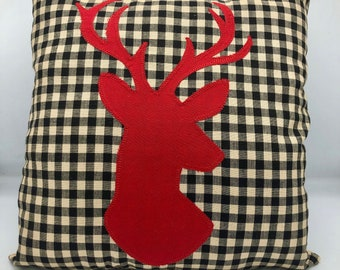 Animal Plush Deer Plush Animal Pillows Woodland Plushie Deer Deer Throw Pillow Deer Pillow Sleeping Fawn Pillow Deer Cushion