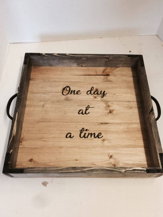 Excellent Wood Tray Ottoman Tray Aa T Tray Oversized Tray Tray With Handles One Day At A Time Rustic Tray Square Tray Caraccident5 Cool Chair Designs And Ideas Caraccident5Info