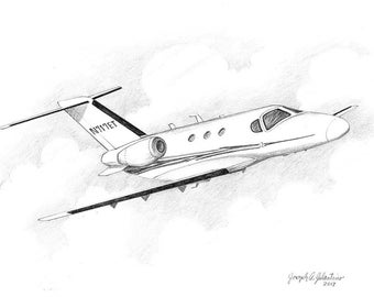 Custom Airplane Boat Home Sketch 99 Up 5x7 Graphite Pencil Etsy