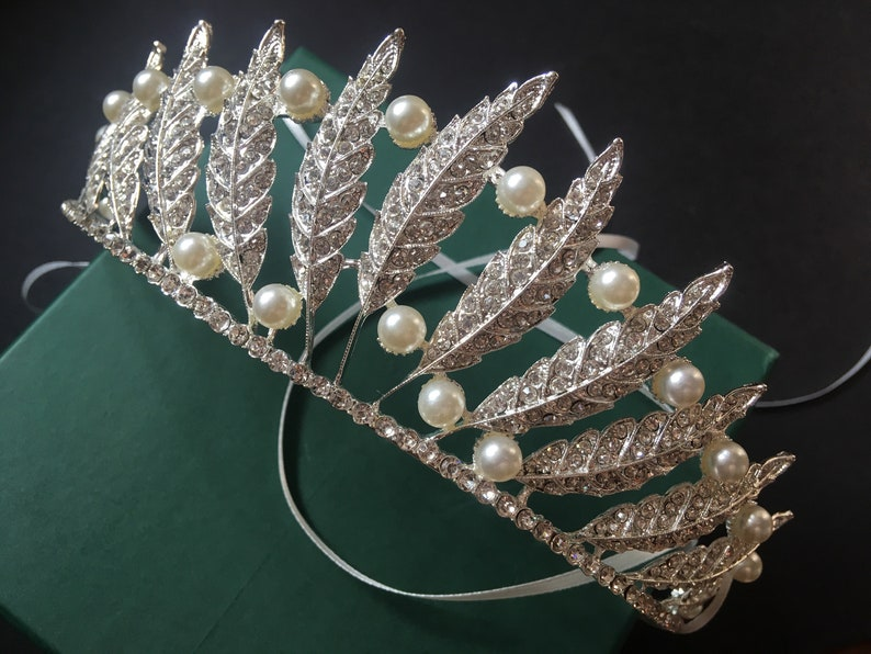 rhinestones crown crystals headpiece princess headpiece Romantic bridal crown prom wedding crown wedding headpiece brides headpiece