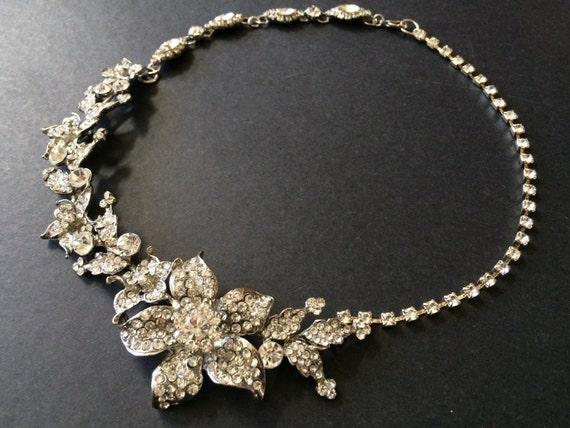 Sparkle Swarovski rhinestone crystals wedding bridal necklace  efa8b83c7