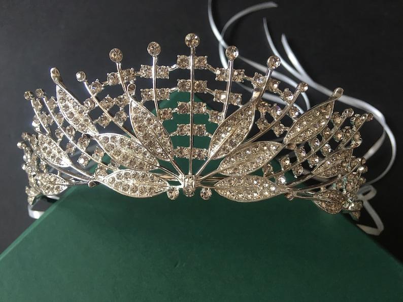 rhinestones crown bridal crown full bridal crown dimante tiara princess tiara crystals headpiece Romantic wedding bridal headpiece