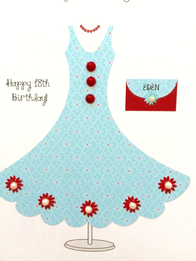 Birthday Card 16th 18th 21st Personalized Daughter Granddaughter Ladies Teenager Or Any Cutomized