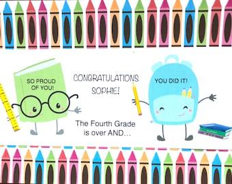 End Of Year School Congratulations-Son-Daughter-Grandson-Granddaughter-Niece-Goddaughter-Godson-Anyone