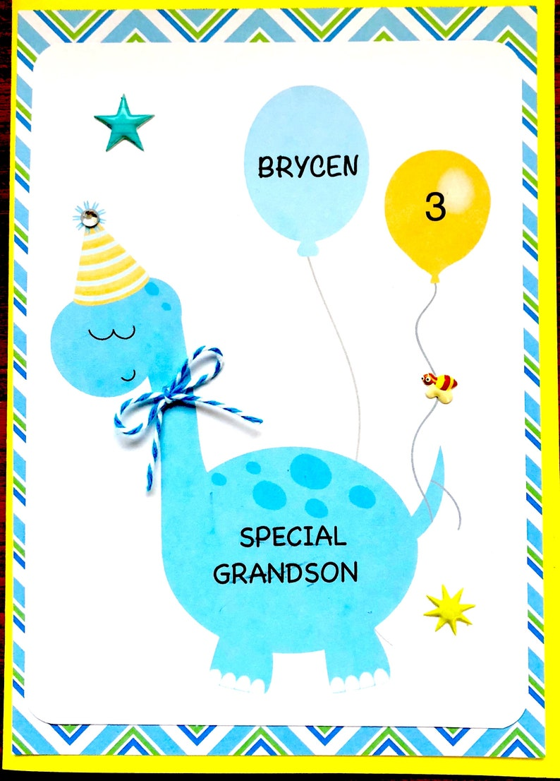 Birthday Card Son Grandson Godson Any Boy First