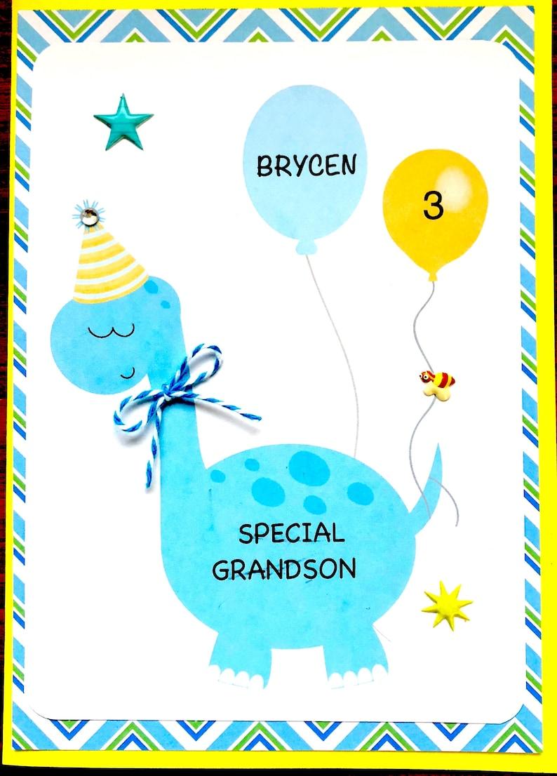 Birthday Card Son Grandson Godson Any Boy First
